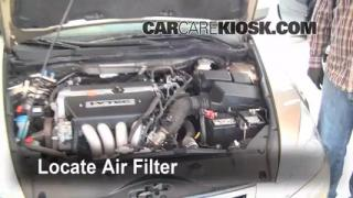 2003-2007 Honda Accord Engine Air Filter Check