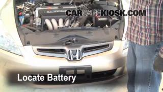 Battery Replacement: 2003-2007 Honda Accord