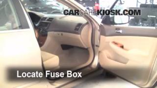 Interior Fuse Box Location: 2003-2007 Honda Accord