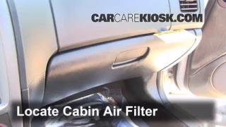 2002-2005 Hyundai Sonata Cabin Air Filter Check