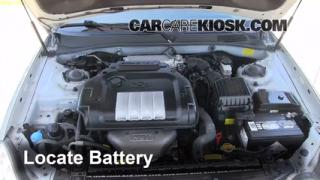 Battery Replacement: 2002-2005 Hyundai Sonata