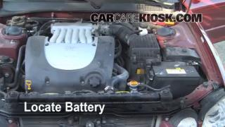 How to Clean Battery Corrosion: 2001-2005 Hyundai XG350