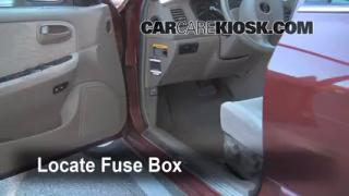 Interior Fuse Box Location: 2001-2005 Hyundai XG350