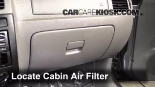 Cabin Filter Replacement: Kia Rio 2001-2005