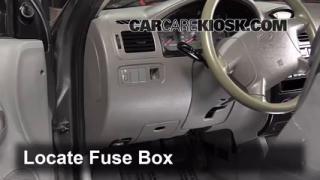 Interior Fuse Box Location: 2001-2005 Kia Rio