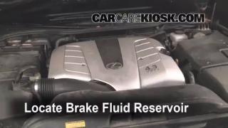 1995-2000 Lexus LS400 Brake Fluid Level Check