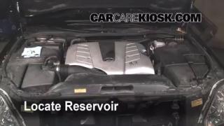 Check Windshield Washer Fluid Lexus LS430 (2001-2006)