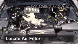 2000-2002 Lincoln LS Engine Air Filter Check