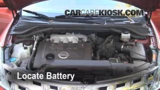 Battery Replacement: 2009-2010 Nissan Murano