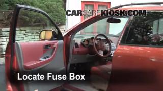 Interior Fuse Box Location: 2003-2007 Nissan Murano