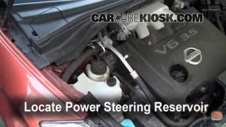 Check Power Steering Level Nissan Murano (2009-2010)