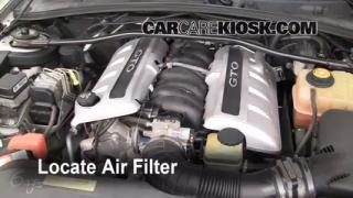 Air Filter How-To: 2004-2006 Pontiac GTO