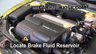 2003-2007 Saab 9-3 Brake Fluid Level Check