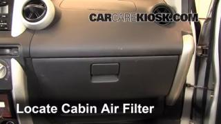 2004-2006 Scion xA Cabin Air Filter Check