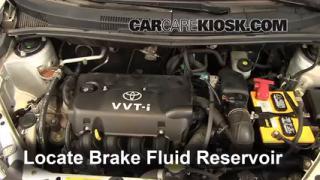 2004-2006 Scion xA Brake Fluid Level Check
