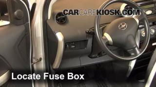 Interior Fuse Box Location: 2004-2006 Scion xA