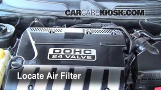 2004-2008 Suzuki Forenza Engine Air Filter Check