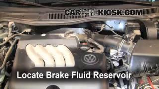 Add Brake Fluid: 1999-2005 Volkswagen Jetta