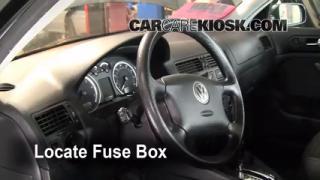 Interior Fuse Box Location: 1999-2005 Volkswagen Jetta