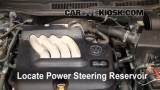 Follow These Steps to Add Power Steering Fluid to a Volkswagen Jetta (1999-2005)