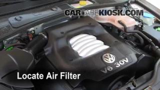 1998-2005 Volkswagen Passat Cabin Air Filter Check