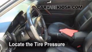 Properly Check Tire Pressure: Volkswagen Passat (1998-2005)
