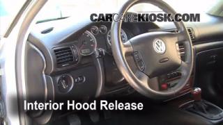 Open Hood How To 1998-2005 Volkswagen Passat