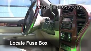 Interior Fuse Box Location: 2001-2005 Pontiac Aztek