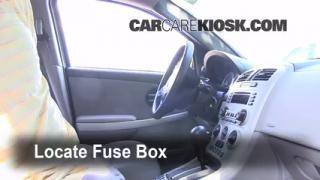 Interior Fuse Box Location: 2005-2009 Chevrolet Equinox