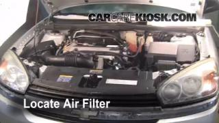 2005-2010 Chevrolet Corvette Engine Air Filter Check