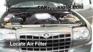 2005-2010 Chrysler 300 Engine Air Filter Check