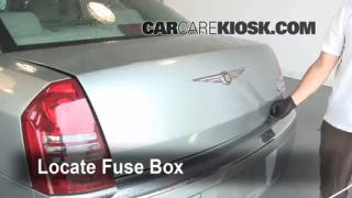 Interior Fuse Box Location: 2005-2010 Chrysler 300