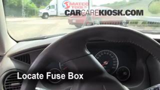 Interior Fuse Box Location: 2001-2006 Chrysler Sebring