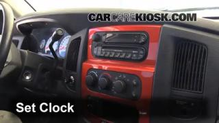 How to Set the Clock on a Dodge Ram 1500 (2002-2005)
