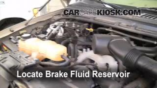 2000-2005 Ford Excursion Brake Fluid Level Check