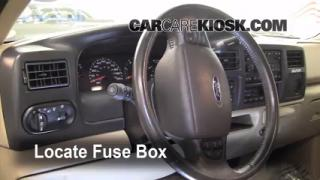 Interior Fuse Box Location: 2000-2005 Ford Excursion