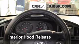 Open Hood How To 2001-2006 Hyundai Elantra