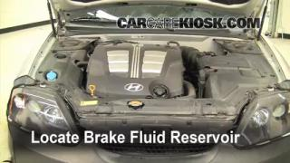 2003-2008 Hyundai Tiburon Brake Fluid Level Check