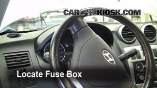 Interior Fuse Box Location: 2003-2008 Hyundai Tiburon