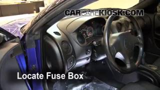 Interior Fuse Box Location: 2000-2005 Mitsubishi Eclipse