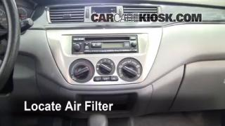Cabin Filter Replacement: Mitsubishi Lancer 2002-2007