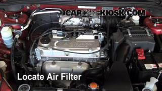 2002-2007 Mitsubishi Lancer Engine Air Filter Check