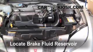 1995-2005 Pontiac Sunfire Brake Fluid Level Check