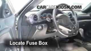 Interior Fuse Box Location: 1995-2005 Pontiac Sunfire