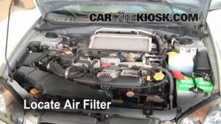 2002-2003 Subaru Impreza Engine Air Filter Check