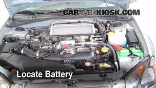 How to Clean Battery Corrosion: 2002-2003 Subaru Impreza