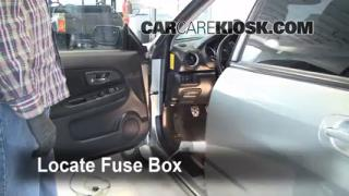 Interior Fuse Box Location: 2002-2007 Subaru Impreza