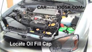 How to Add Oil Subaru Impreza (2002-2003)