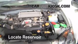 Check Windshield Washer Fluid Subaru Impreza (2002-2003)