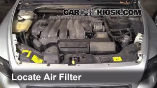 2004-2010 Volvo S40 Engine Air Filter Check